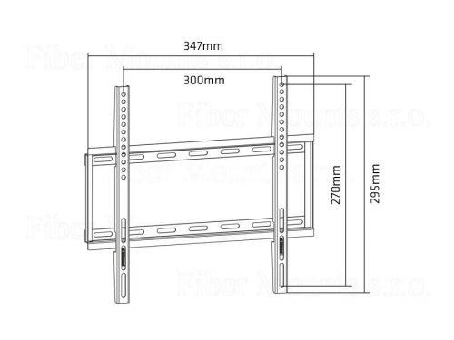 Rozměry televizního fixního držáku MC649