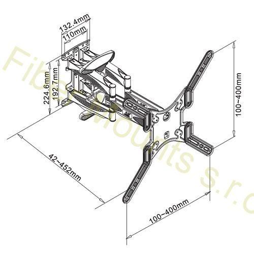 Rozměry držáku Fiber Mounts P5