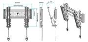 Rozměry držáku Fiber Mounts C1-T