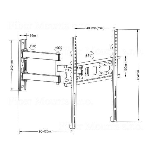 Kloubový otočný držák Fiber Mounts FM761