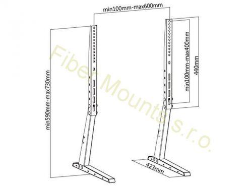 Podstava, nožky na televizi pro umístění na nábytek