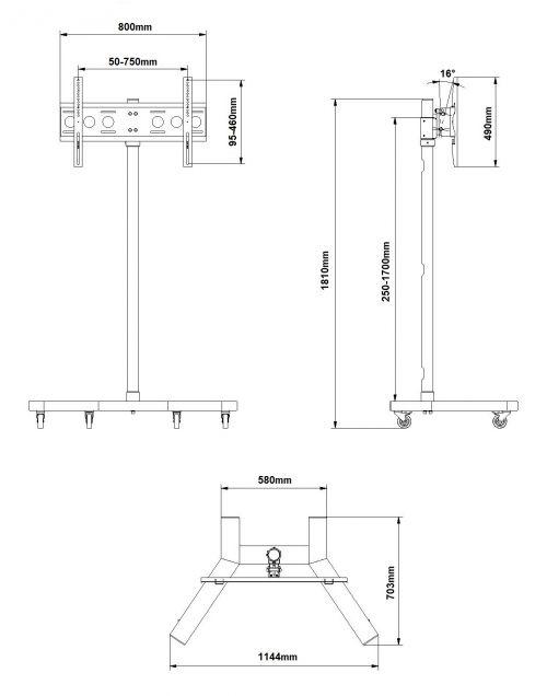 Pojízdný stojan EDBAK TR5