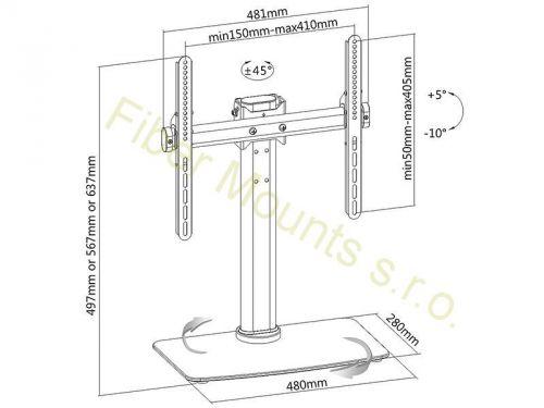 Stojan, podstava na televizor pro umístění na nábytek