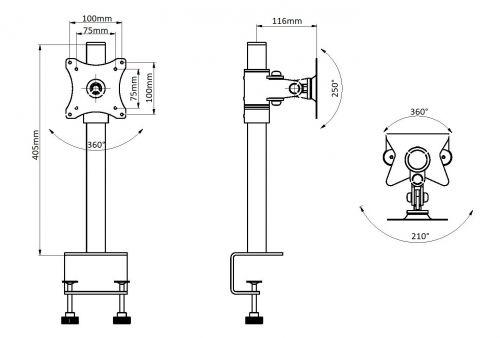 Stolní držák monitoru EDBAK SV01