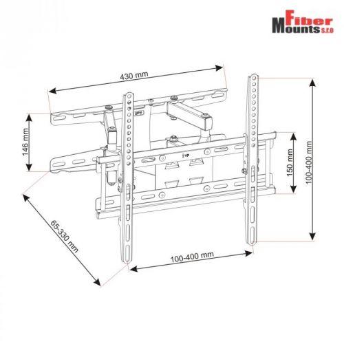 Parametry televizního držáku AR50
