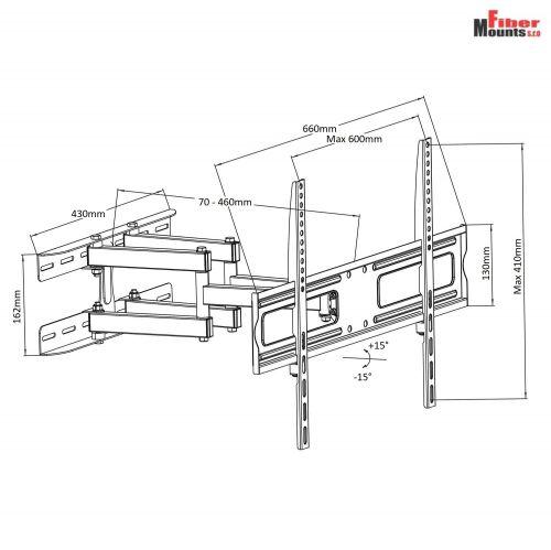 Parametry televizního držáku DELTA762