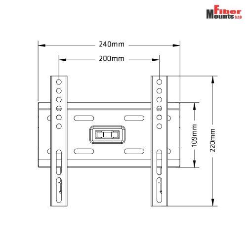 Parametry fixního držáku AX777