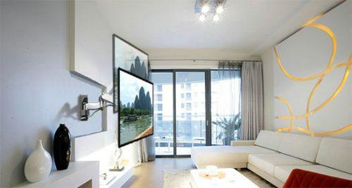 Namontovaný televizní držák F500 v obývacím pokoji