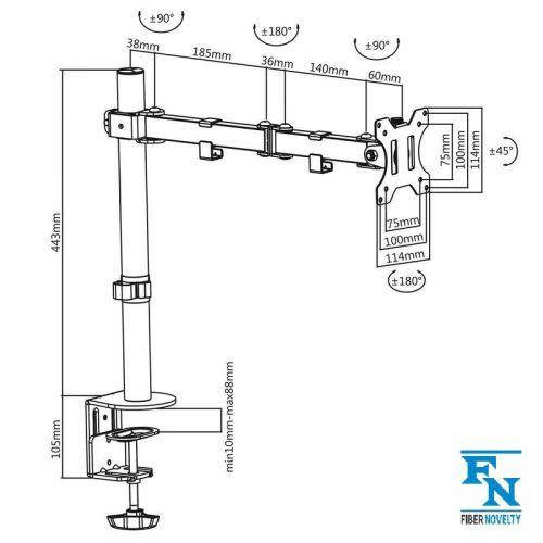 Parametry stolního držáku F10