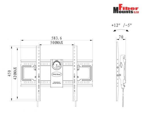 Technické parametry držáku DF70-T
