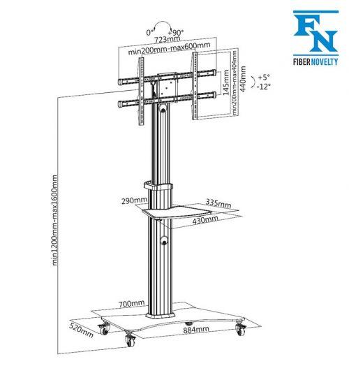 Parametry pojízdného stojanu FN3000