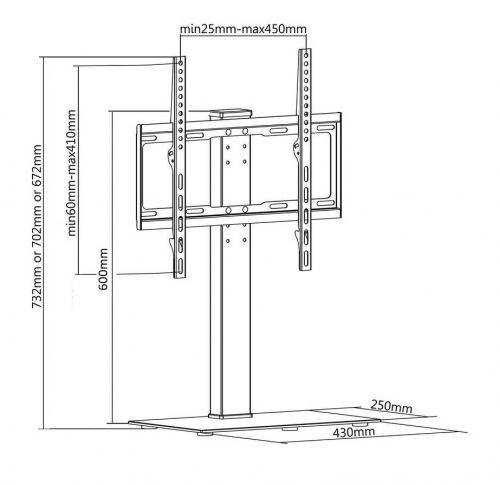 Technické parametry podstavce FN P3