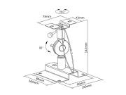 Rozměry držáku Fiber Mounts DR553