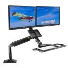 Držák na 2 monitory a klávesnici Fiber Mounts FC24-2A-B
