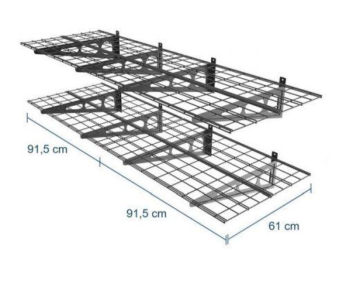Kovová police o rozměrech 2x 915 x 610 mm