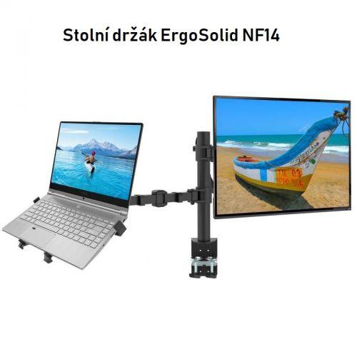 Kvalitní stolní držák notebooku a monitoru ErgoSolid NF14