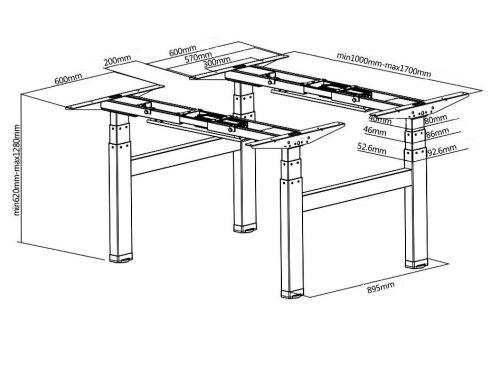 Technické parametry stolového výsuvného rámu