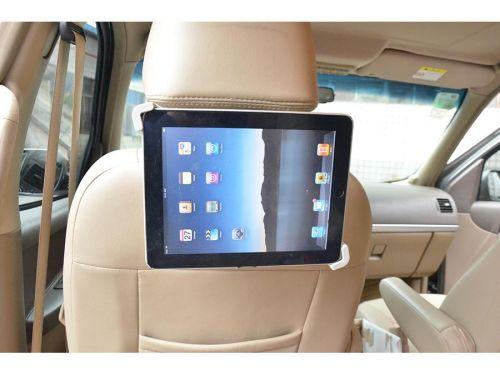 Polohovatelný držák na tablet za opěrku hlavy do automobilu
