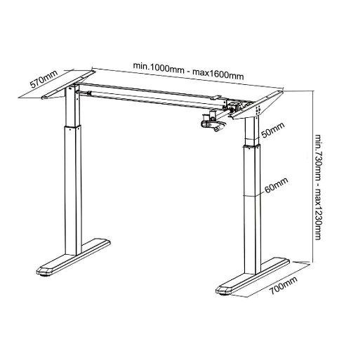 Technické parametry rámu stolu Fiber Mounts MC790