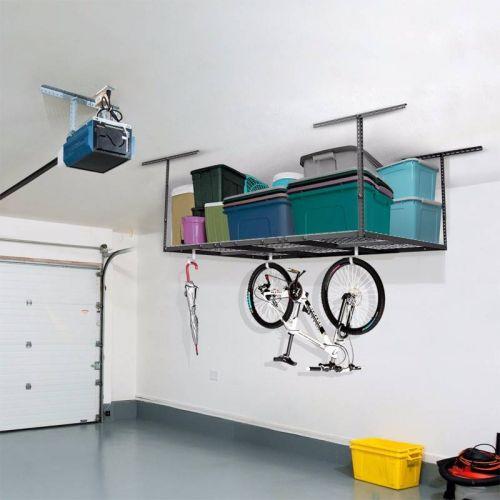 Stropní závěsná konstrukce na uložení věcí v garáží