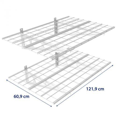 Kovová police o rozměrech 121,9 x 60,9 cm