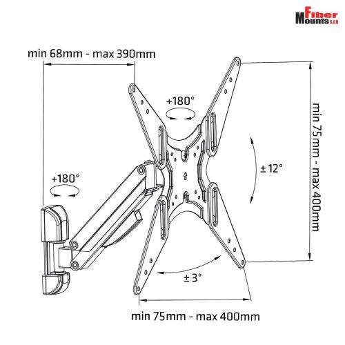 Technické parametry televizního držáku AX785