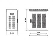 Rozměry skříňky G200