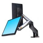 F185A - Profesionální stolní držák na 2 monitory, sklopný, otočný, funkce PIVOT, nosnost 8 kg NB
