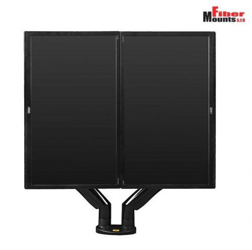Stolní držák na dva LCD LED monitory