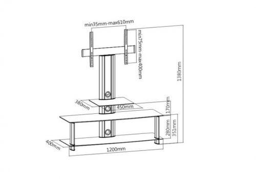 Parametry televizního stolku AX626
