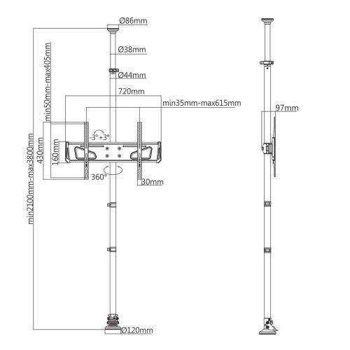 Technické parametry držáku Fiber Mounts M7C91