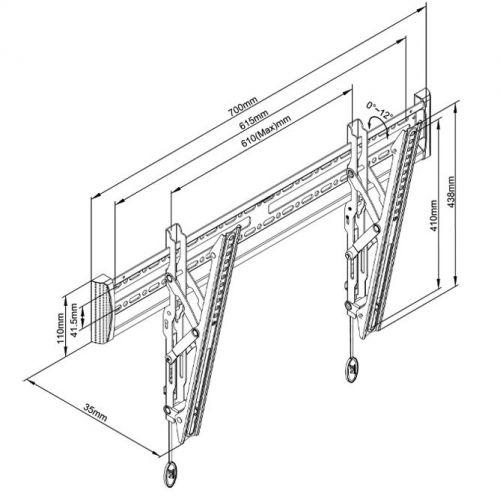 Parametry sklopného držáku Fiber Mounts C3T