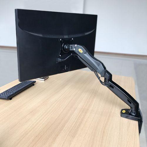 Otočný, sklopný, výškově polohovatelný stolní držák LCD monitoru