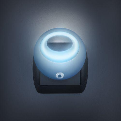 Krásné modré noční světlo se senzorem