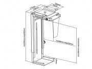 Rozměry držáku PC713S