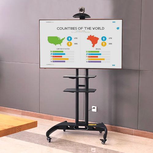 Kvalitní pojízdný stojan na prezentace, výstavy, snadno sestavitelný