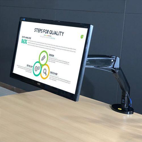 Otočný výškově polohovatelný držák monitoru Fiber Mounts F100A