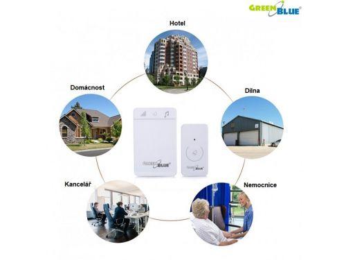 Bezdrátový zvonek GB111W využití v různých odvětví jako škola, dílna, nemocnice
