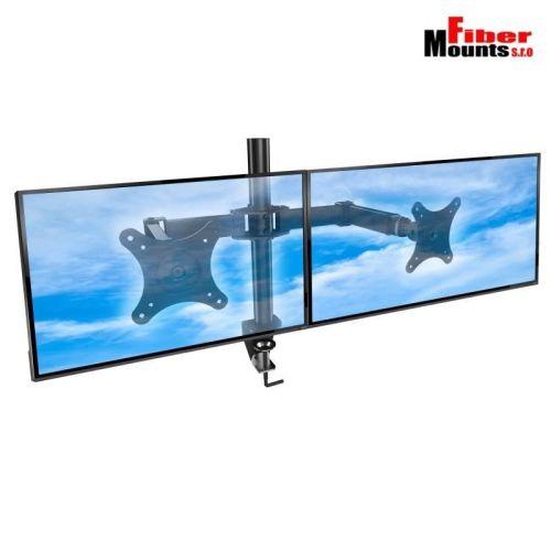 Stolní držák na dva LCD monitory s uchycením na okraj stolu