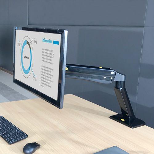 Polohovatelný stolní držák na velké monitory s výškovým nastavením