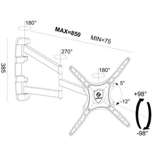 Parametry televizního držáku Longo85