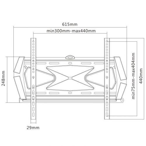Parametry fixního televizního držáku Fiber Novelty FN404F