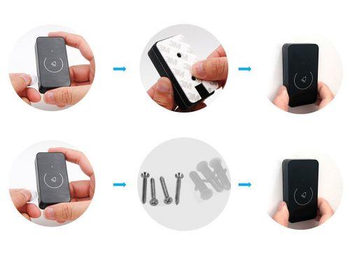Instalace tlačítka pomocí 3M pásky