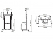 Rozměry stojanu AVT1800-100-1P
