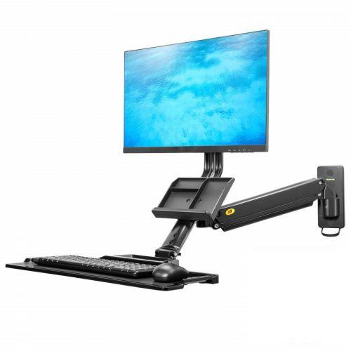 Nástěnná pracovní stanice na monitor a klávesnici