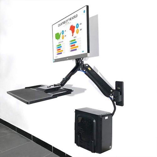Nástěnný výškově polohovatelný držák monitoru a klávesnice