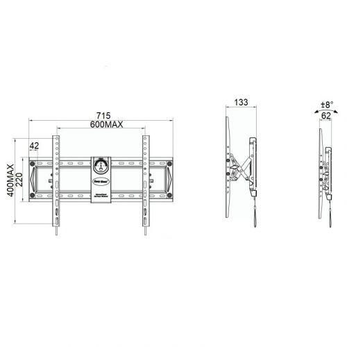 Parametry sklopného držáku NB C70T
