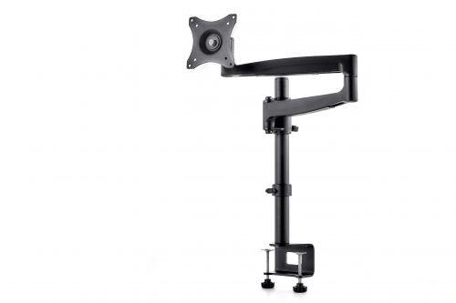 Polohovatelný stolní držák se systémem vedení kabeláže vnitřkem ramene