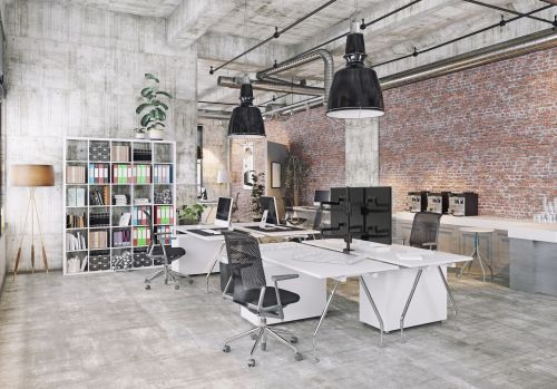 Profesionální stolní držák pro čtyři monitory do kanceláře