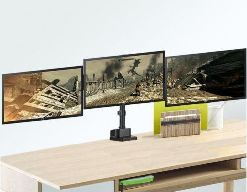 Profesionální stolní držák pro tři monitory